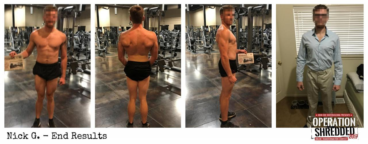Operation Shredded 2017 Results- Nick G End Results